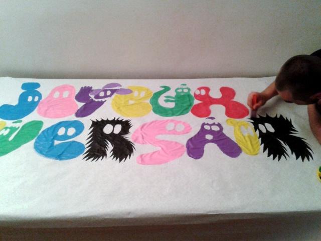 La banderole anniversaire barbapapa les p 39 tits riens d 39 orelouna - Decoration anniversaire barbapapa ...
