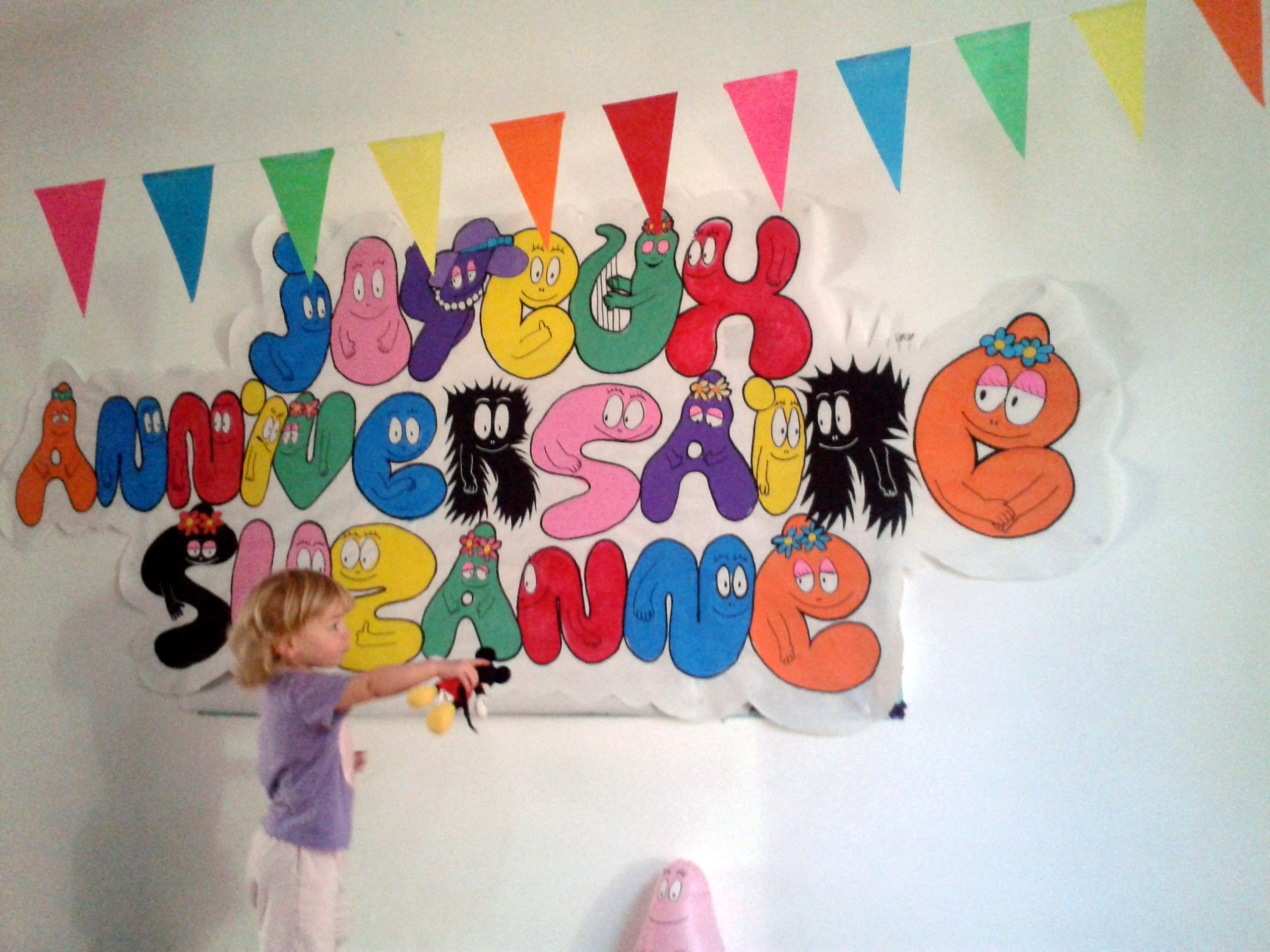 decoration anniversaire barbapapa
