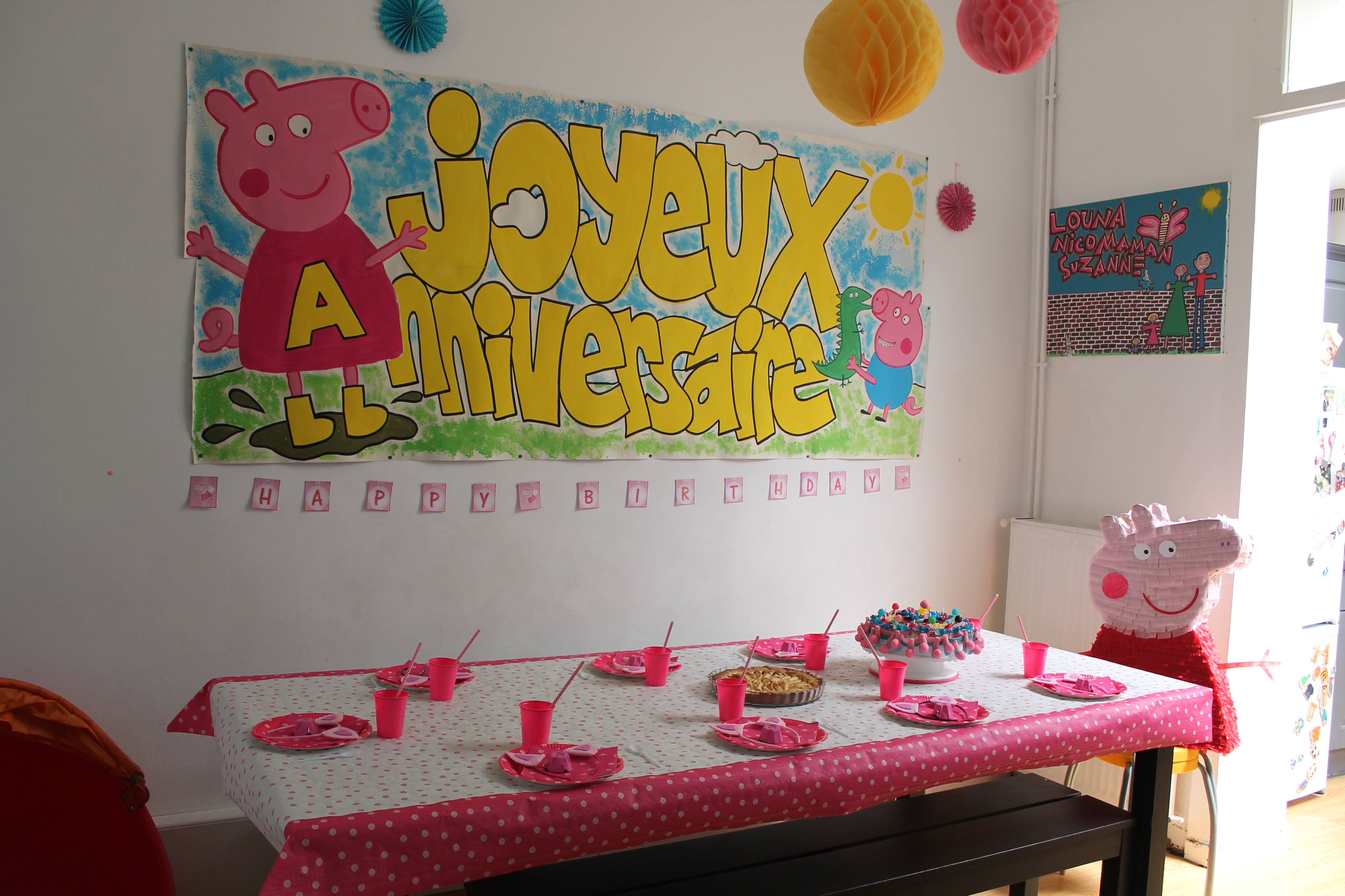 Table Base Ideas L'anniversaire « Peppa pig